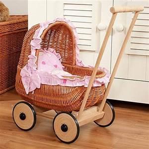 Puppenwagen Aus Korb : zekiwa korb puppenwagen herzen pink ~ Frokenaadalensverden.com Haus und Dekorationen