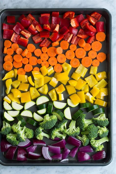 vegetables roasted oven recipe veggies vegetable roast recipes baking cooking roasting grilled baked cookingclassy diced sheet cook times before way