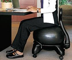 Stability Desk Chair by Gaiam Balance Chair Black Exercise