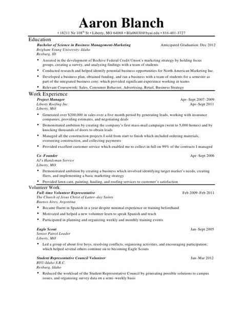 Sle Combination Resume Customer Service by Resume Templates Customer Service Resume 100 Images