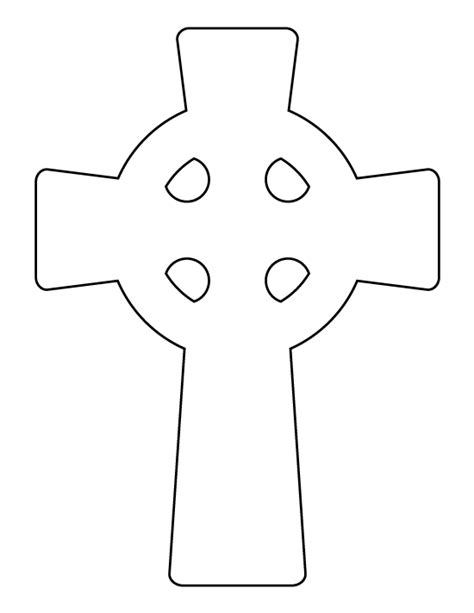 Cross Template Celtic Cross Pattern Use The Printable Outline For Crafts