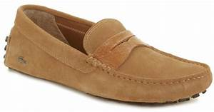 Lacoste Concours Suede Loafers in Brown for Men   Lyst