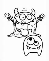 Coloring Monsters Pages Moshi Template Templates Monster Colouring Printable Cartoon Dance sketch template