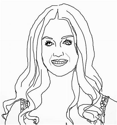 Coloring Pages Taylor Swift Perry Katy Celebrities