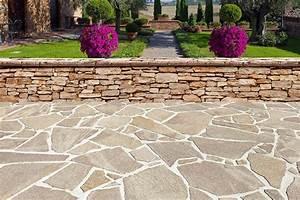 Boden Für Terrasse : bildergebnis f r terrasse naturstein polygonal veranda ~ Michelbontemps.com Haus und Dekorationen