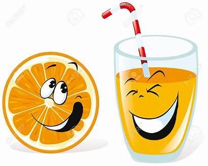Juice Orange Clipart Cartoon Saft Spremuta Glass