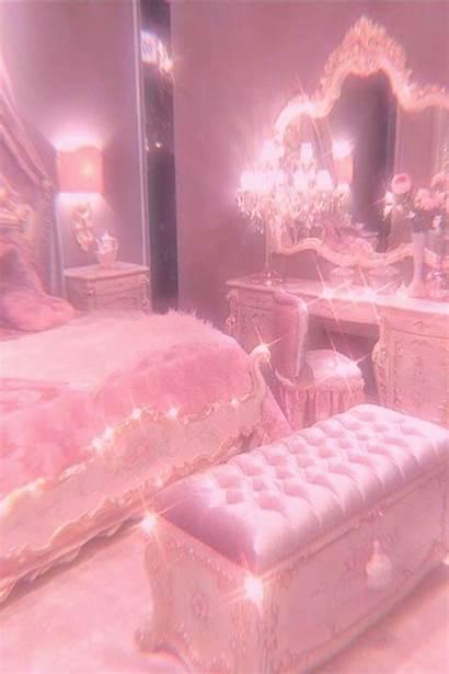 Aesthetic Bedroom Pastel Backgrounds Princess Indoor Glitter