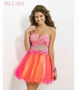 Blush 2014 Prom Dresses – Hot Pink & Yellow Strapless ...
