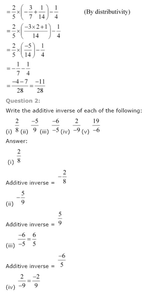 ncert solutions  class  maths chapter  rational numbers