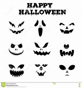 Halloween Kürbis Schablone : halloween pumpkins collection vector illustration ~ Lizthompson.info Haus und Dekorationen