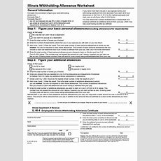 Form Ilw4  Illinois Withholding Allowance Worksheet Printable Pdf Download