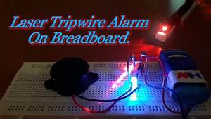 How To Make A  U0026quot Laser Security Alarm System U0026quot  At Home On A