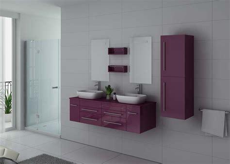 meuble de salle de bain couleur aubergine  vasques meuble de salle de bain aubergine ref disau