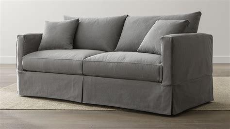 willow grey slipcover sofa reviews crate  barrel