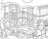 Bedroom Drawing Kid Line Kitchen Draw Pages Lika Getdrawings Deviantart sketch template
