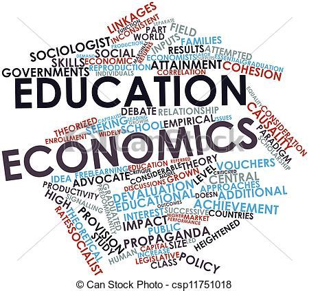 clipart  education economics abstract word cloud