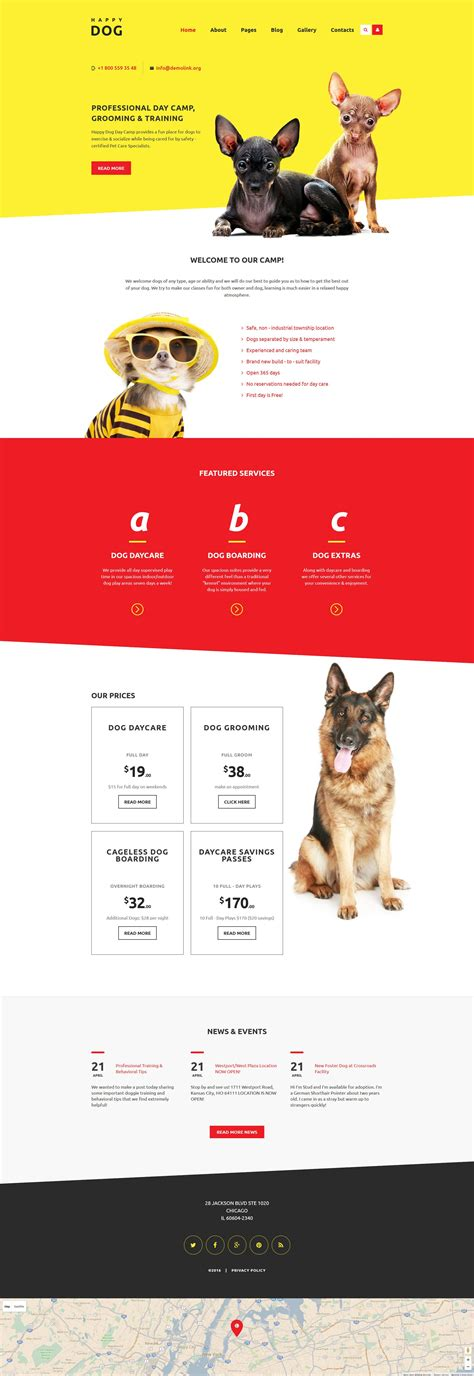 desarrollo web templat happy dog joomla template new website templates dise 241 o