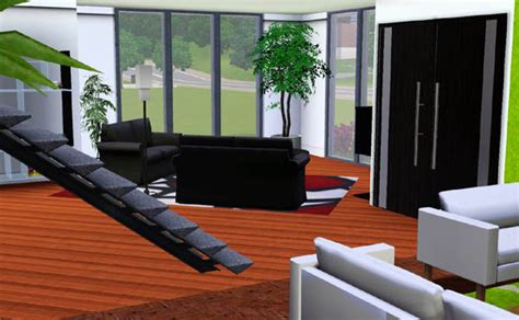 chambre sims 3 sims 3 maison moderne noir et blanche house black and