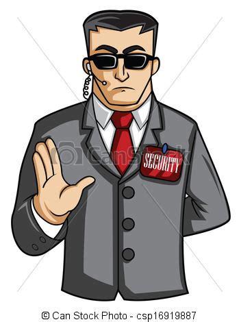 vector  security man csp search clip art
