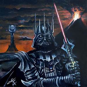 Darth Sauron Painting by Tom Carlton