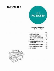 Fo-dc550 Manuals
