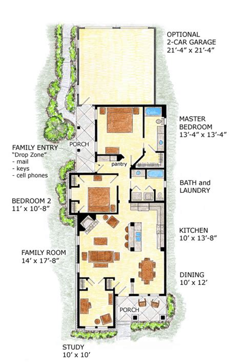 farmhouse plans narrow lot house plans