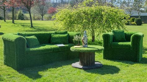 artificial grass garden sofa by artificial landscapes
