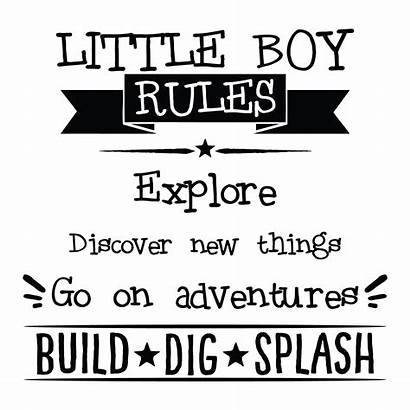 Quotes Boy Wall Boys Rules Adventure Decal