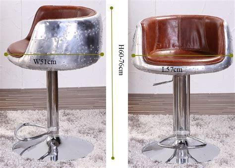 chaise de bar vintage vintage leather aluminium aviator bar stool buy aviator