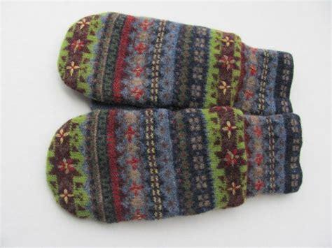fleece mitten pattern felted wool mittens fleece lined