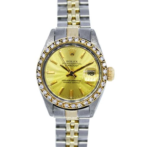 bvlgari ring rolex datejust 6917 two tone bezel