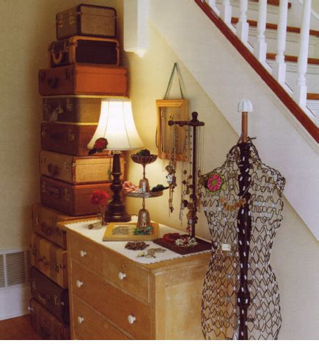 Decorating Ideas Using Suitcases by A Scrapbook Of Me How To Use Vintage Suitcases