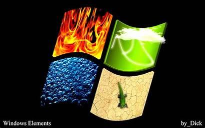 Elements Windows Wallpapers Destop Glass
