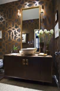 Candice Olsen Bedrooms by Trellis Wall Stencil Contemporary Bathroom Summer