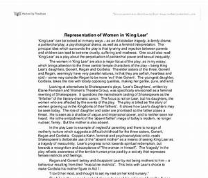 king lear essay thesis