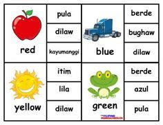 learning filipino colors  filipino clip cards