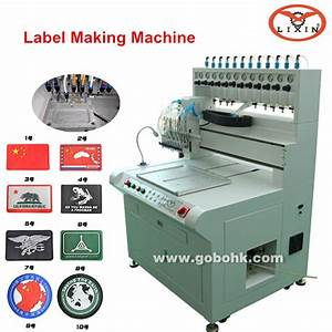 full automatic liquid silicone pvc label making machine With clothing label maker machine