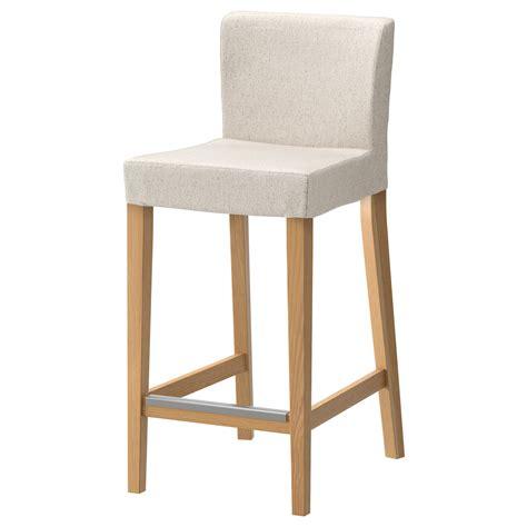 ikea chaises de bar henriksdal tabouret de bar à dossier chêne linneryd