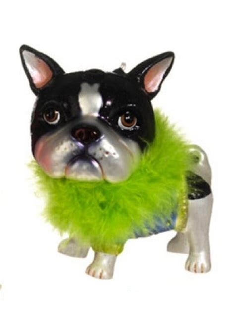 boston terrier christmas ornament my menagerie pinterest