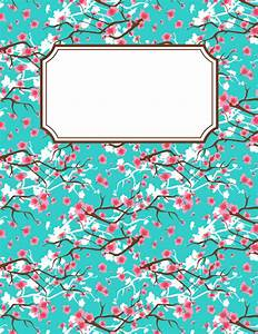 Free printable cherry blossom binder cover template ...