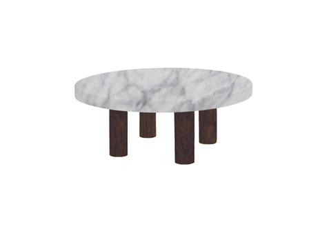 The styles range from stylish modern many styles of marble coffee tables feature smooth rounded edges and curved legs, or a solid base. Small Round Carrara Marble Coffee Table Circular Walnut Legs