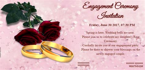 engagement invitation card video  invitations