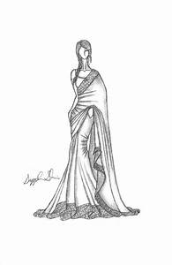 Indian Sari/Saree | My Random Fashion Illustrations ...