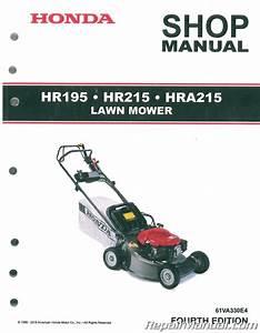Honda Hr195 Hr215 And Hra215 Lawn Mower Shop Manual