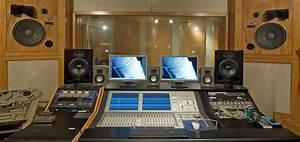 Music studio room recording control speaker monitor