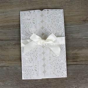 buy 5 laser cut wedding invitations envelope elegant white With wedding invitation envelope price