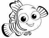 Nemo Coloring Pages Fish Finding Draw Cartoon Swim Sea Anime sketch template