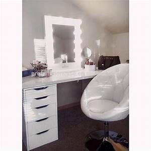 Coiffeuse Miroir Led : professional studio make up spiegel mit led leuchten friseursalon spiegel mit beleuchtung ~ Teatrodelosmanantiales.com Idées de Décoration