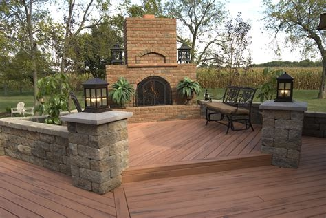 deck fireplaces composite decks columbus decks porches and patios by