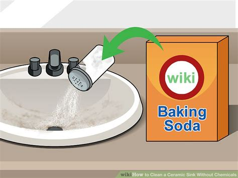 how to clean kitchen sink with baking soda 3 ways to clean a ceramic sink without chemicals wikihow 9715